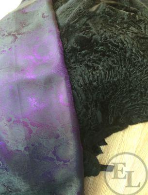Шуба из черной свакары и черной норки - 4