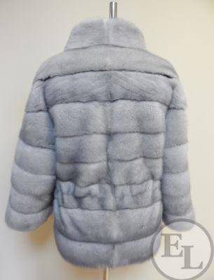 Куртка из голубой норки - 3
