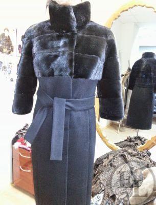 Пальто. Норка, сукно - 1