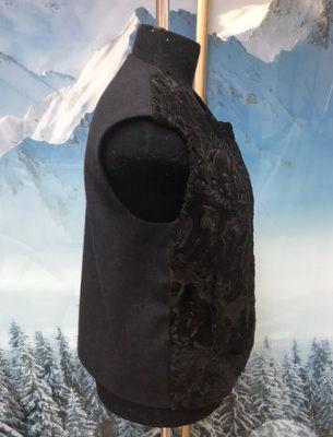 Пошив жилета в комбинации ткани с мехом свакары - 2