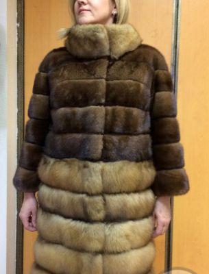 Куртка норка/соболь - 1
