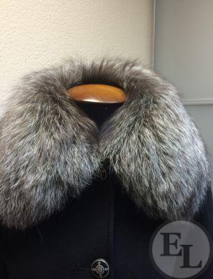Классическое пальто, воротник из чернобурки