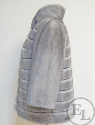 Куртка из голубой норки, перекрой - 3