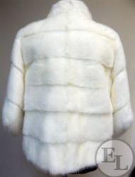 Норка белая с добавлением меха черной норки, фото до и после - 5