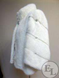 Норка белая с добавлением меха черной норки, фото до и после - 4