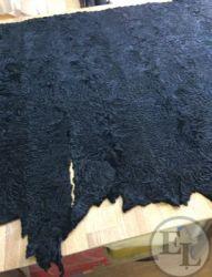 Шуба из черной свакары с отделкой из черной норки - 4
