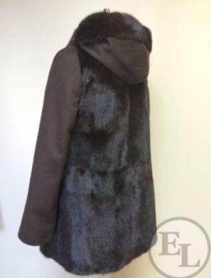 Облегченное пальто, перешив из норковой шубы - 2