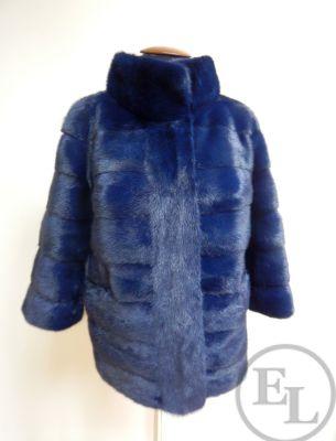 Куртка норка синяя - 1