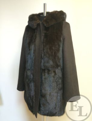 Облегченное пальто, перешив из норковой шубы