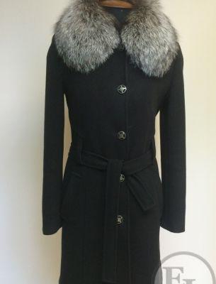 Классическое пальто, воротник из чернобурки - 2