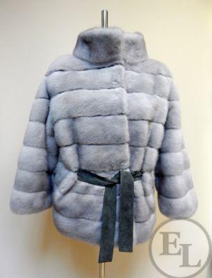 Куртка из голубой норки
