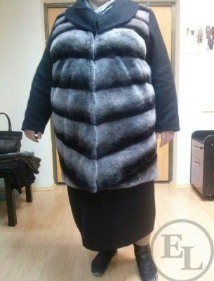 Пальто из норки и шерсти. Новый мех