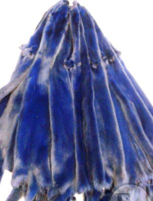 Куртка норка синяя - 4