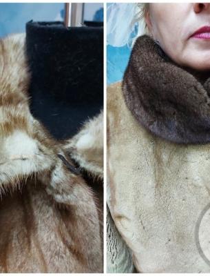 Перекрой норковой шубы с добавлением меха - 1